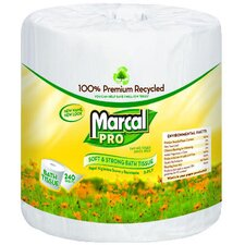 100% Premium Recycled 2-Ply Toilet Paper - 240 Sheets per Roll