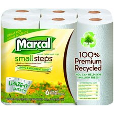 Premium Recycled Giant Roll Towels in White