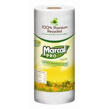 <strong>Marcal Paper Mills, Inc.</strong> 100% Premium Recycled Perforated Towels, 2-Ply in White