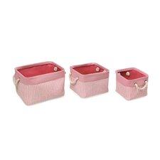 3 Piece Nesting Square Basket Set