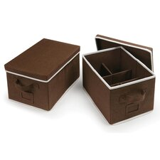 2 Piece Folding Storage Baskets Set