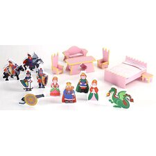 <strong>Badger Basket</strong> Castle Dollhouse 16 Piece Accessory Set