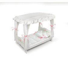 <strong>Badger Basket</strong> Rose Doll Canopy Bed