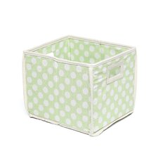 Folding Storage Cube in Polka Dot