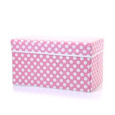 Double Folding Storage Seat in Polka Dot