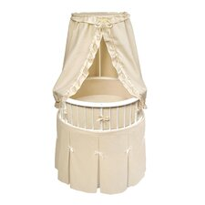 <strong>Badger Basket</strong> Elegance Bassinet with Waffle Bedding