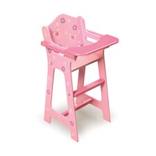 <strong>Badger Basket</strong> Blossoms and Butterflies Doll High Chair