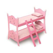 <strong>Badger Basket</strong> Blossoms and Butterflies Doll Bunk Bed with Ladder