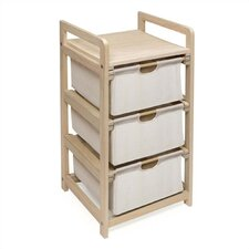 <strong>Badger Basket</strong> 3 Drawer Hamper/Storage Unit