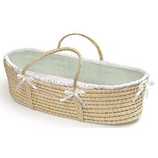 <strong>Badger Basket</strong> Moses Basket with Waffle Bedding