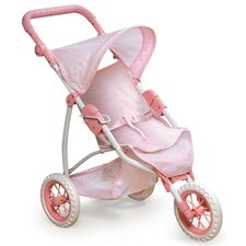 "<strong>Badger Basket</strong> Three Wheel Doll Jogging Stroller for 22"" Dolls"