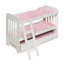 Trundle Doll Bunk Bed with Ladder