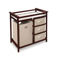 Modern Baby Changing Table with 3 Baskets & Hamper
