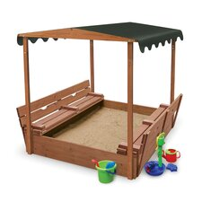 <strong>Badger Basket</strong> Convertible Cedar 4' Rectangular Sandbox with Cover