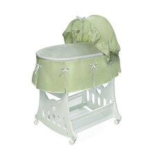 Waffle Pleated Bassinet with Toy Box Base