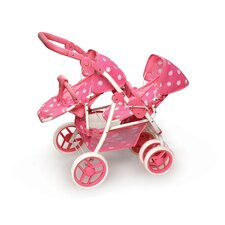 <strong>Badger Basket</strong> Reversible Double Doll Stroller