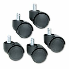 Doublewheel Nylon Casters (Set of 5)
