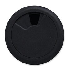 "Grommet, 3-1/8"" Diameter, Adjustable Openings, Black"