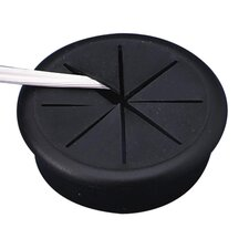 "Flexible Grommet, 2-3/8"" Diameter, Black"