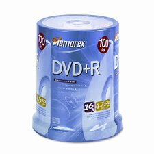 DVD + R Discs, 100/Pack