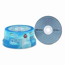 CD - RW 8X-12X, 700Mb/80 Min, 25/Pack