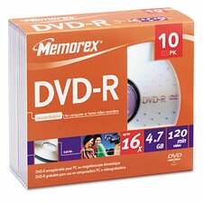 DVD - R Discs, 10/Pack