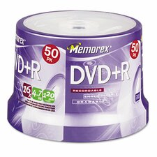 DVD + R Discs, 50/Pack