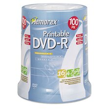Inkjet Printable Dvd - R Discs, 100/Pack