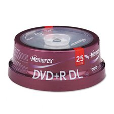 Dual - Layer DVD + R Discs, 25/Pack
