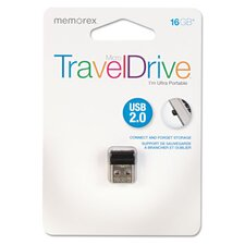 <strong>Memorex</strong> Micro Traveldrive USB 16GB Flash Drive