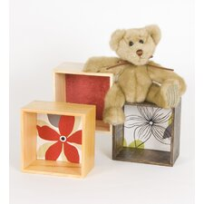 McKenzie Bear with Blocks Wall Hanging Art