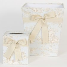 Central Park Tissue Cover and Wastebasket Set