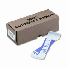 Self-Adhesive Currency Straps, 1000 Bands/Box