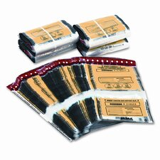 Tamper-Evident Twin Deposit Bags, 100/Box