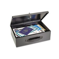 <strong>MMF Industries</strong> Steelmaster Heavy-Duty Steel Fire-Retardant Security Cash Box
