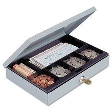 <strong>MMF Industries</strong> Steelmaster Heavy-Duty Steel Low-Profile Cash Box with 6 Compartments