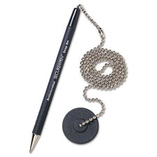 Secure-A-Pen Ballpoint Counter Pen with Base, Medium