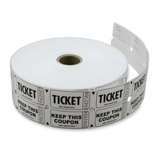 Double Ticket Roll, 10/CS, White