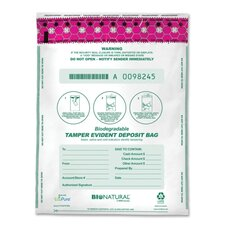 "Deposit Bag, Bio-Natural,Tamper Evident,12""x16"",100/CT,WE"
