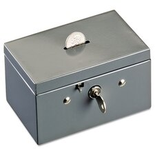 <strong>MMF Industries</strong> Steelmaster Small Cash Box with Coin Slot