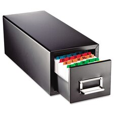 Steelmaster Drawer Card Cabinet Holds 1,500 4 X 6 Cards