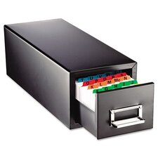 Steelmaster Drawer Card Cabinet Holds 1,500 5 X 8 Cards