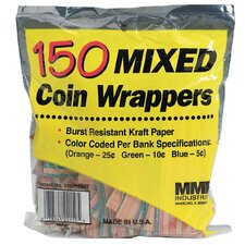 150 Count Assorted Coin Wrapper