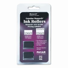 Replacement Ink Rollers for 1131/1136 Pricing Labelers, Black, Two per Pack
