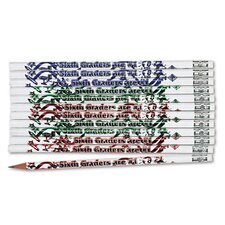 Decorated Wood Pencil, Sixth Graders Are #1, 12/Pack
