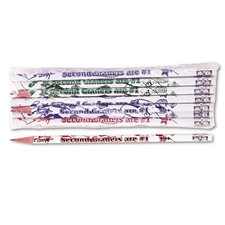 Decorated Wood Pencil, Second Graders Are #1, 12/Pack