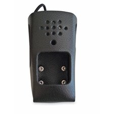 "2-Way Radio Holster, Leather, 2-3/4""x1-3/4""x4-3/4"", Black"