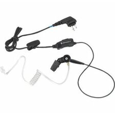 One-Wire Surveillance Earpiece with in-line Clip PTT Mic