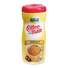 <strong>Nestle' USA</strong> Coffee-Mate Hazelnut Creamer Powder, 15-oz Plastic Bottle