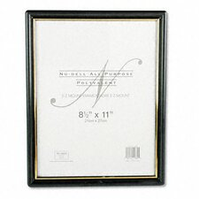 Ez Mount Document Frame, Plastic, 8-1/2 X 11